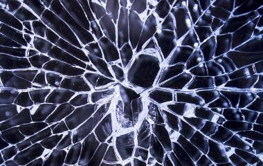 Smashed broken glass - tempered