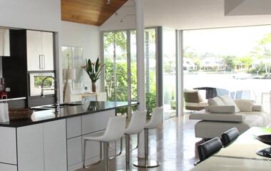Residential glass repair in a modern home