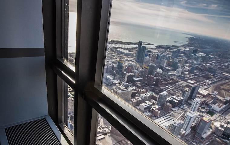 Aluminium glass framing - high-rise building